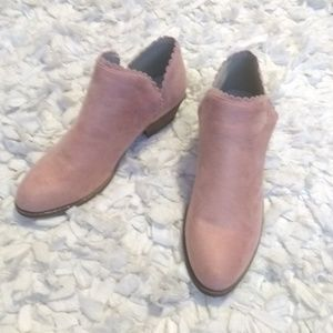 Shoes - Rose Suede Ankle Boots